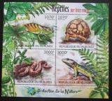 Poštovní známky Burundi 2012 Obojživelníci a plazi Mi# Mi# 2560-63 Kat 10€