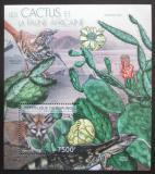 Poštovní známka Burundi 2012 Kaktusy a fauna Mi# Mi# Block 274 Kat 9€