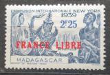 Poštovní známka Madagaskar 1943 Výstava v New Yorku přetisk Mi# Mi# 288
