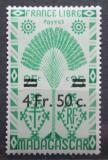 Poštovní známka Madagaskar 1944 Strom cestovatelů přetisk Mi# Mi# 381