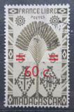 Poštovní známka Madagaskar 1944 Strom cestovatelů přetisk Mi# Mi# 374