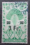 Poštovní známka Madagaskar 1944 Strom cestovatelů přetisk Mi# Mi# 380