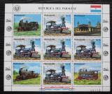 Poštovní známky Paraguay 1983 Lokomotivy Mi# 3585 Bogen Kat 30€