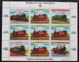Poštovní známky Paraguay 1984 Lokomotivy Mi# 3785 Bogen Kat 30€