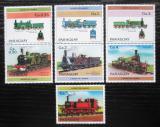Poštovní známky Paraguay 1984 Lokomotivy Mi# 3779-85 Kat 7.50€