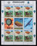 Poštovní známky Paraguay 1983 Historie dopravy Mi# 3617 Bogen Kat 30€