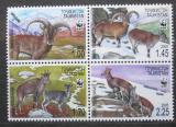 Poštovní známky Tádžikistán 2005 Nahur modrý, WWF Mi# 392-95 7.50€