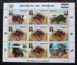 Poštovní známky Paraguay 1986 Stará auta Mi# 3971 Bogen Kat 20€