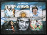Poštovní známky Svatý Tomáš 2010 Diego Maradona, fotbal Mi# 4400-04 Kat 11€
