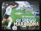 Poštovní známka Svatý Tomáš 2010 Diego Maradona, fotbal Mi# Block 758 Kat 11€