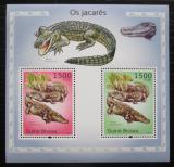 Poštovní známky Guinea-Bissau 2010 Aligátor severoamerický Mi# Block 864 Kat 12€