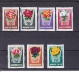 Poštovní známky Maďarsko 1962 Růže Mi# 1856-62