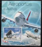 Poštovní známka Guinea-Bissau 2012 Letadla Mi# Block 1050 Kat 8€