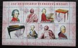 Poštovní známky Guinea-Bissau 2006 Wolfgang Amadeus Mozart Mi# 3416-19 Kat 8€