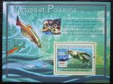 Poštovní známka Guinea 2007 Želvy a ryby Mi# Block 1188 Kat 7€
