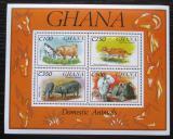 Poštovní známky Ghana 1993 Domácí zvířata Mi# Block 238 Kat 9.50€