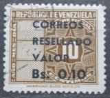 Poštovní známka Venezuela 1965 Nominál přetisk Mi# 1613
