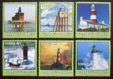 Poštovní známky Mosambik 2002 Majáky Mi# 2710-15 Kat 15€