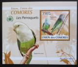 Poštovní známka Komory 2009 Papoušci DELUXE Mi# 2387 Block