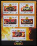 Poštovní známky Guinea-Bissau 2016 Hasičská auta Mi# 8979-83 Kat 12.50€