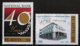Poštovní známky Svatý Kryštof 2011 Národní banka, 40. výročí Mi# 1211-12