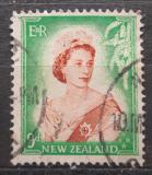 Poštovní známka Nový Zéland 1954 Královna Alžběta II. Mi# 340