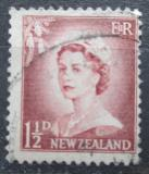 Poštovní známka Nový Zéland 1955 Královna Alžběta II. Mi# 355