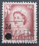 Poštovní známka Nový Zéland 1958 Královna Alžběta II. přetisk Mi# 373