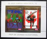 Poštovní známky Rovníková Guinea 1976 LOH Montreal, zlatá Mi# Block 227 Kat 17€