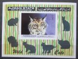 Poštovní známka Adžmán 1971 Kočky Mi# Block 360 Kat 12€