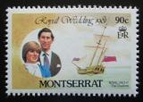 Poštovní známka Montserrat 1981 Královská svatba Mi# 465