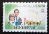 Poštovní známka Montserrat 1981 Královská svatba, SPECIMEN Mi# 467