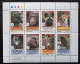 Poštovní známky Uganda 1994 Fauna, Sierra Club Mi# 1429-36 Bogen Kat 11€