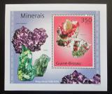 Poštovní známka Guinea-Bissau 2010 Minerály DELUXE Mi# 4985 Block