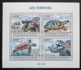 Poštovní známky Burundi 2013 Želvy Mi# 3278-81 Kat 9.90€
