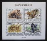 Poštovní známky Burundi 2013 Africká fauna Mi# 3208-11 Kat 8.90€