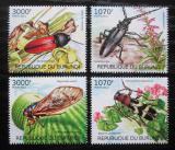 Poštovní známky Burundi 2012 Hmyz, brouci Mi# 2535-38 Kat 10€
