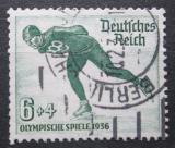 Poštovní známka Německo 1935 ZOH Garmisch-Partenkirchen, rychlobruslení Mi# 600