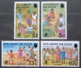 Poštovní známky Šalamounovy ostrovy 1989 Dětské hry Mi# 713-16