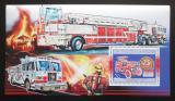 Poštovní známka Guinea 2006 Američtí hasiči DELUXE Mi# Block 1065