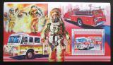 Poštovní známka Guinea 2006 Američtí hasiči DELUXE Mi# Block 1066