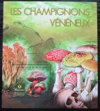 Poštovní známka Burundi 2012 Jedovaté houby Mi# Block 273 Kat 9€