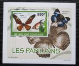 Poštovní známka Togo 2010 Motýli DELUXE Mi# 3405 Block