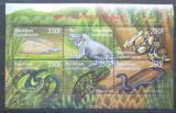Poštovní známky SAR 2001 Obojživelníci a plazi Mi# 2718-23 Kat 10€