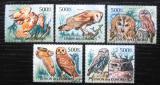 Poštovní známky Komory 2011 Sovy Mi# 3033-37 Kat 12€
