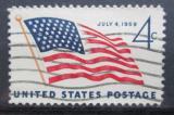 Poštovní známka USA 1959 Státní vlajka Mi# 755