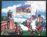 Poštovní známka Mosambik 2010 Francouzské hrady a zámky Mi# Block 371 Kat 10€