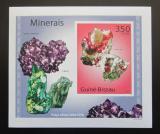Poštovní známka Guinea-Bissau 2010 Minerály DELUXE neperf Mi# 4985 B Block
