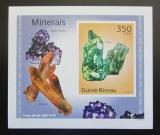 Poštovní známka Guinea-Bissau 2010 Minerály DELUXE neperf Mi# 4986 B Block