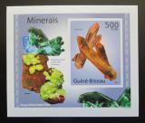 Poštovní známka Guinea-Bissau 2010 Minerály DELUXE neperf Mi# 4987 B Block